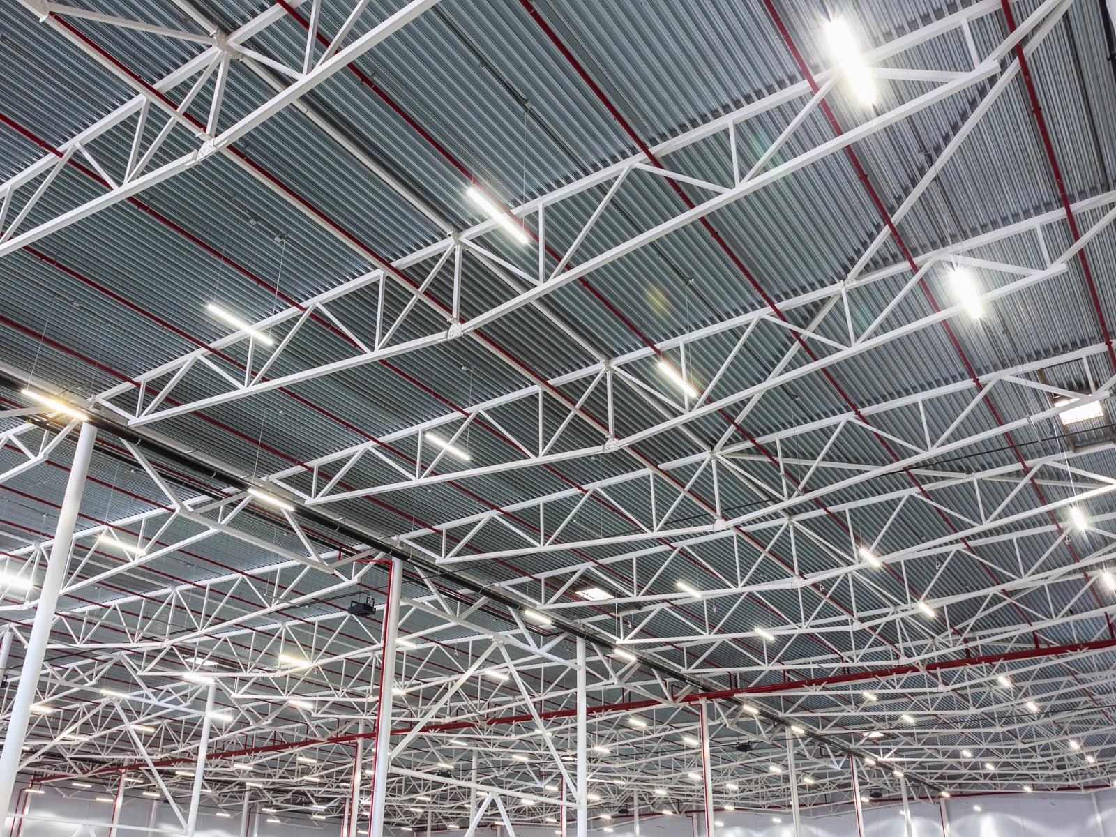 Warehouse LED lighting installation